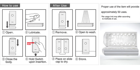 TENGA Flip Lite Instructions