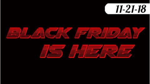 Black Friday Sale 11-23 to 11-27