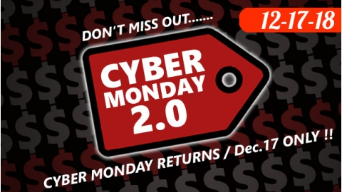 Cyber Monday 2.0 Sale 12-17 only