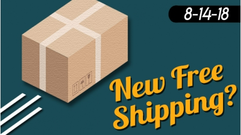 New Free Shipping at $125, No Code Needed And Some Thoughts About Shipping