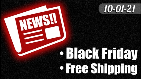 Early Black Friday and Free Shipping raised to $75