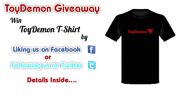 "ToyDemon Weekly Giveaway: ToyDemon T-Shirt! ""Updated With Winners"""