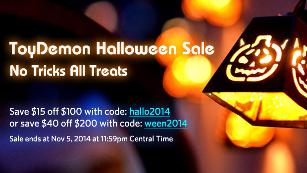 Halloween 2014 Sale: No Tricks, All Treat and Launch of ToyDemon's Meiki® Real Masturbator!