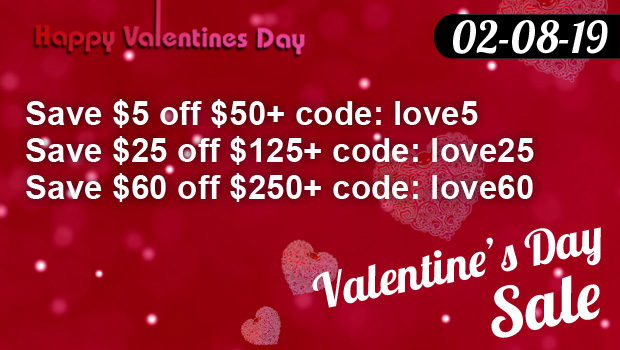 Valentine's Day Sale 02-08 to 02-18