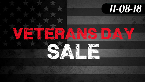 Veterans Day Sale 11-09 to 11-13