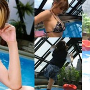 Maria Ozawa Asuka Kirara Arisa Kanno at the swimming pool