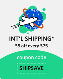 5$ off $75 international